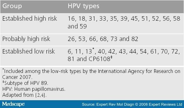 hpv high risk subtypes)