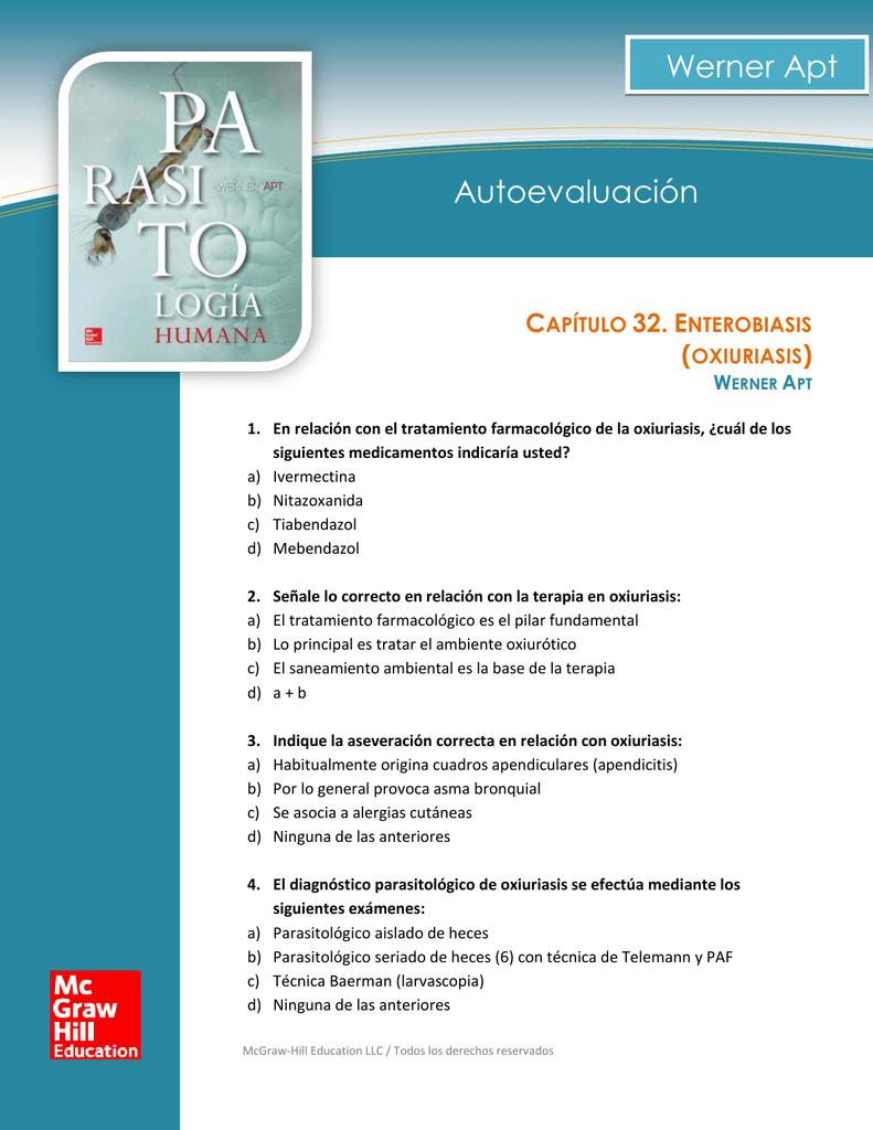 enterobiasis nitazoxanida