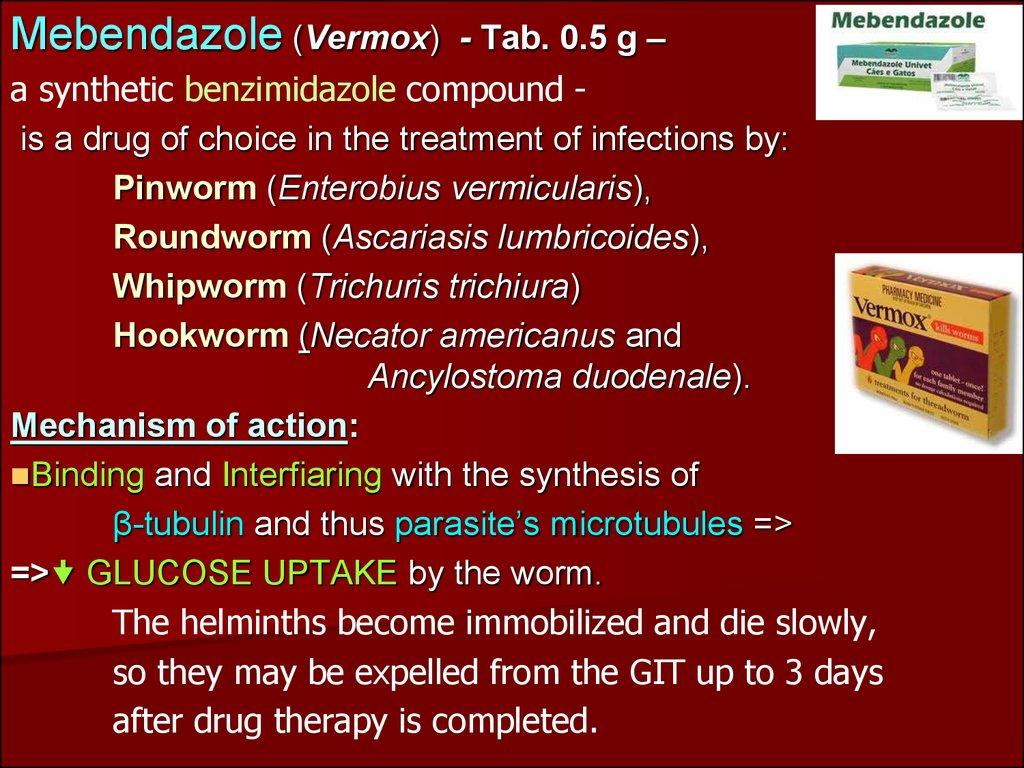 enterobius vermicularis mebendazole dose