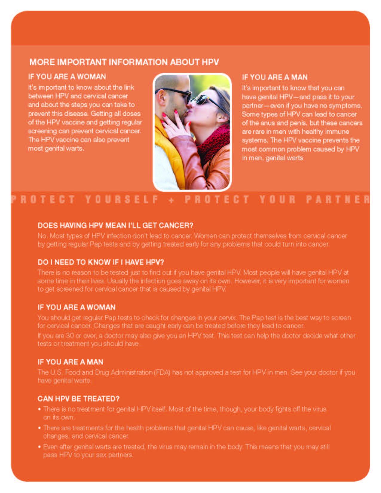 human papillomavirus brochure