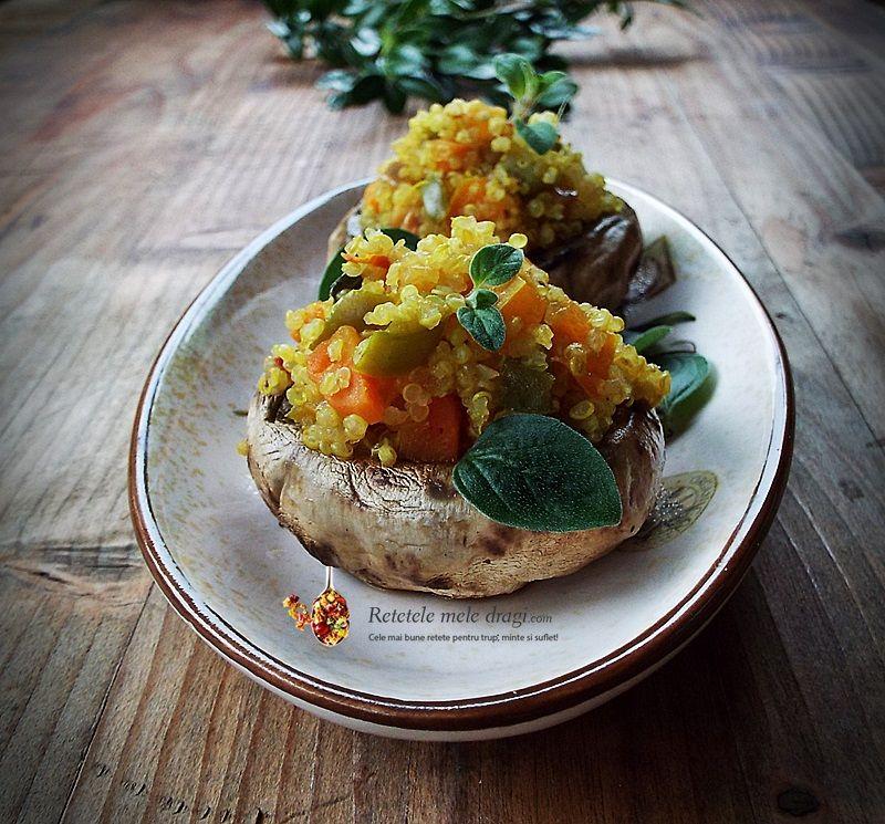ciuperci pleurotus cu quinoa
