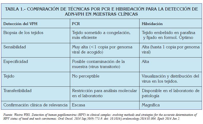 papiloma virus diagnostico laboratorio)
