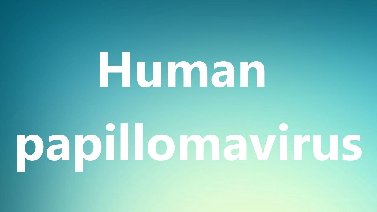 define human papillomavirus in medical term)