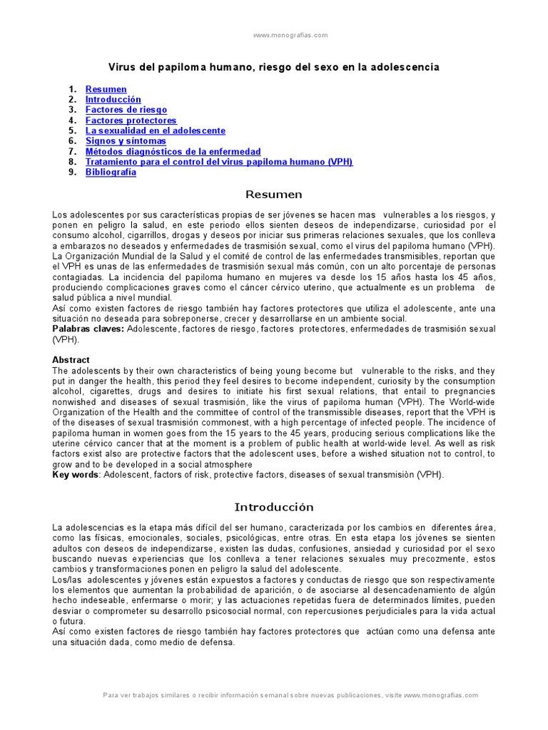 papiloma humano resumen)