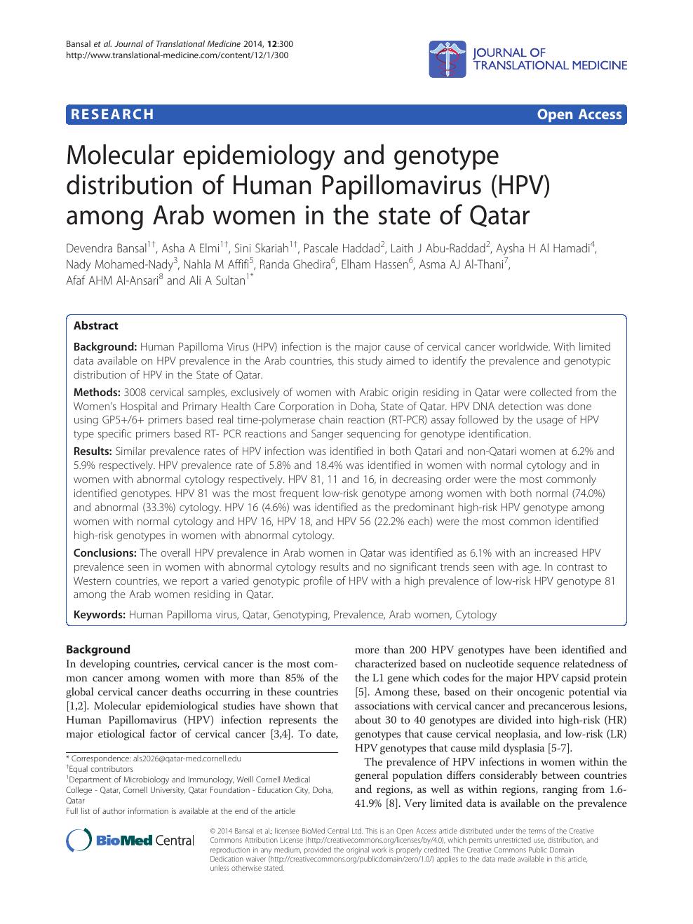 medicine journal human papillomavirus