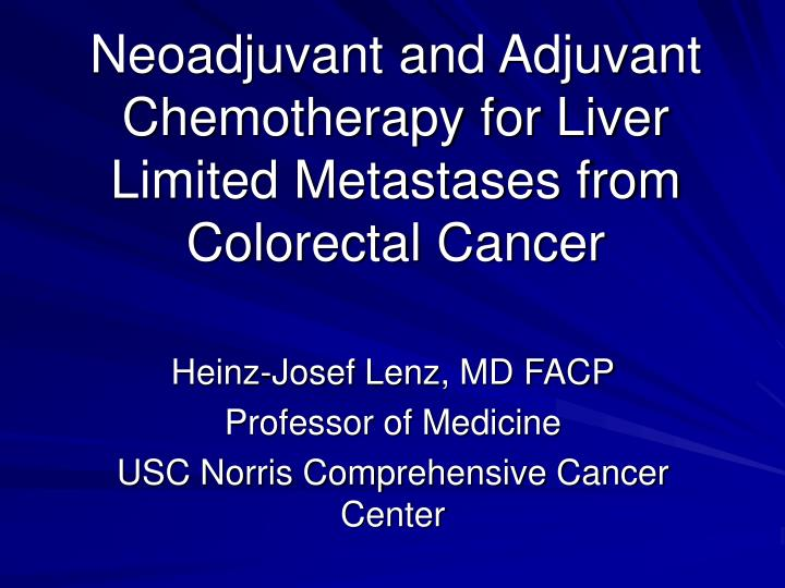 rectal cancer neoadjuvant chemotherapy)