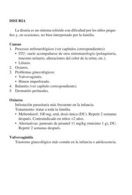 vulvovaginitis por oxiuros tratamiento