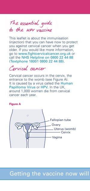 hpv virus cervical cancer nhs)