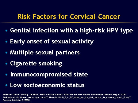 hpv cervical cancer risk factor