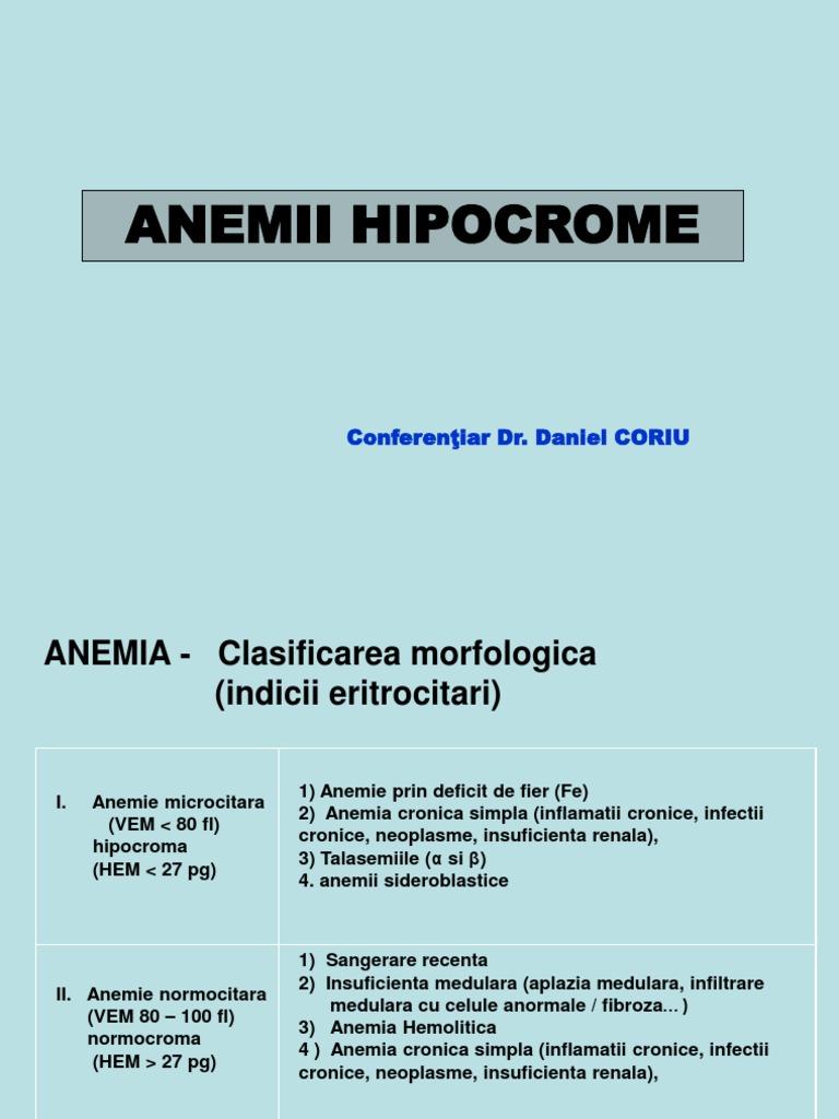 ce inseamna anemie normocroma normocitara