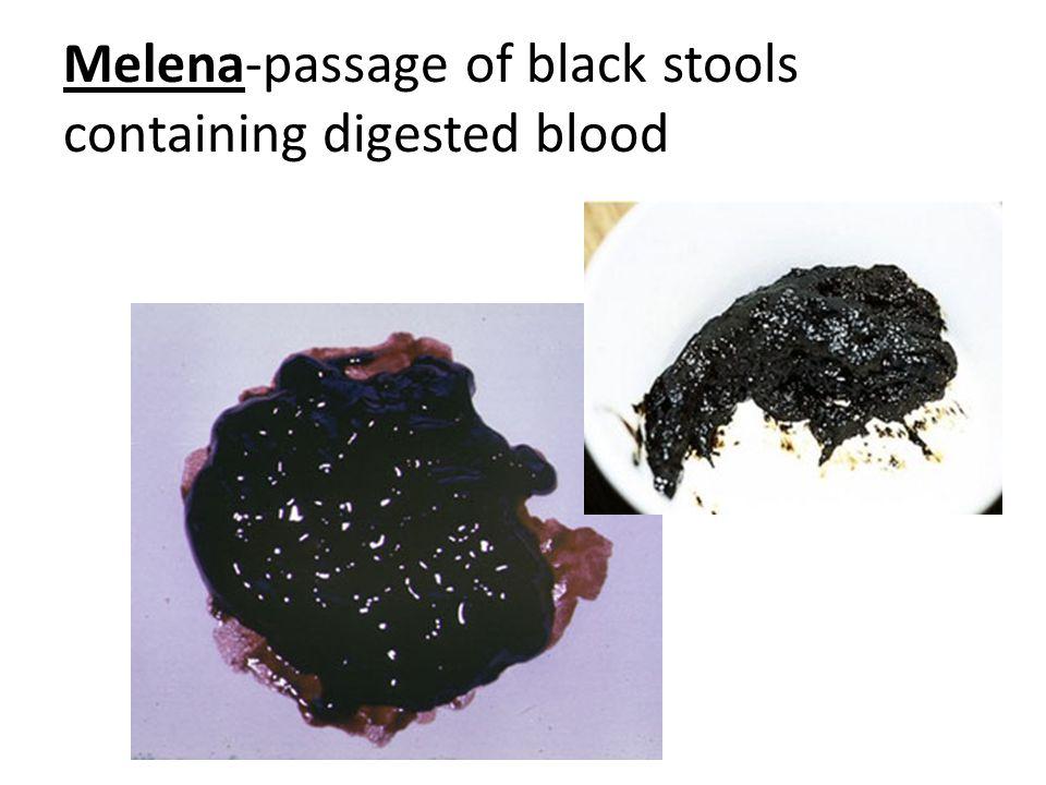 cancer colon melena