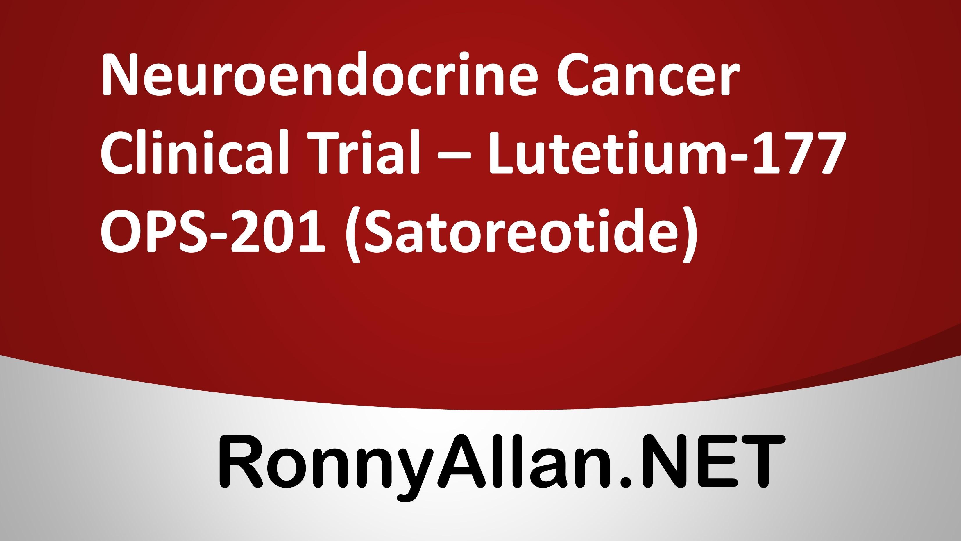 neuroendocrine cancer lutetium