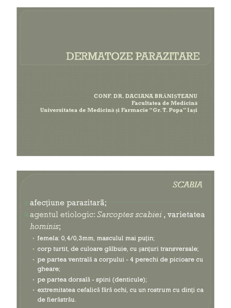 leziuni parazitare)