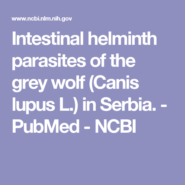 parasitic helminths ncbi)