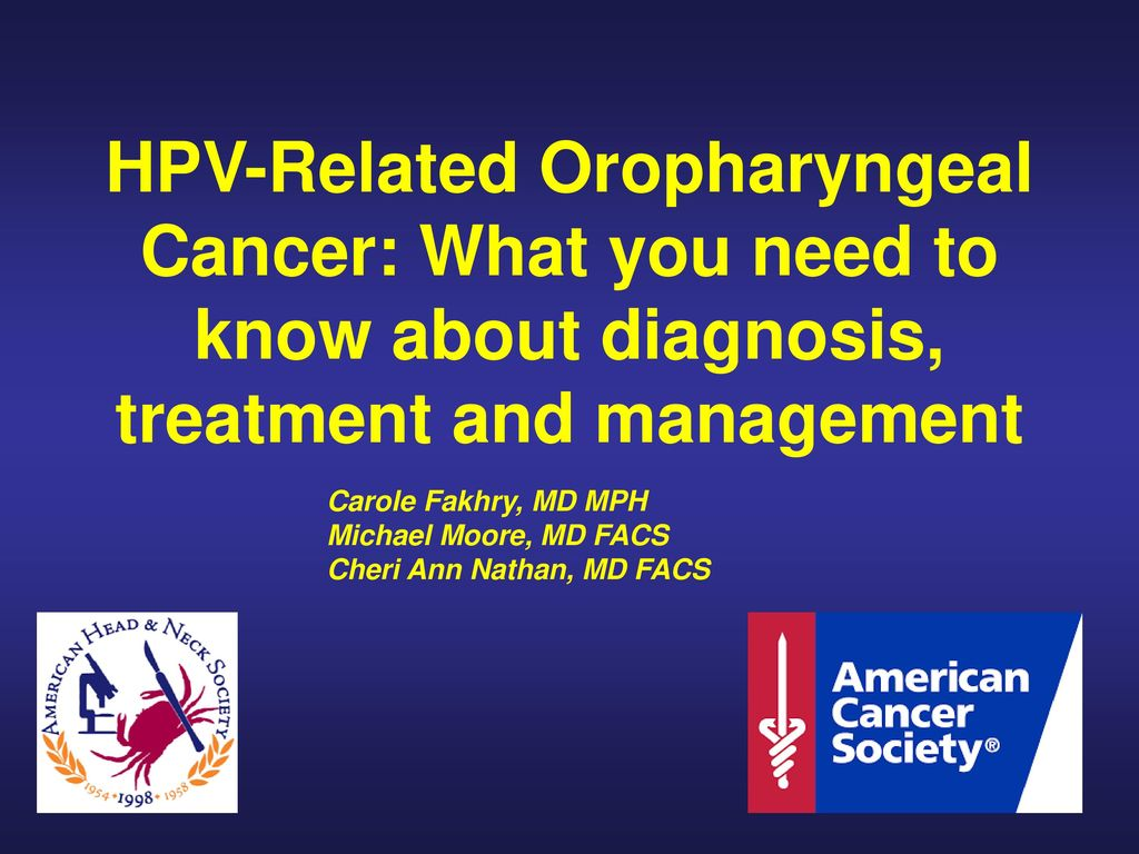hpv and oropharyngeal cancer ppt vierme pulmonar al sobolanului