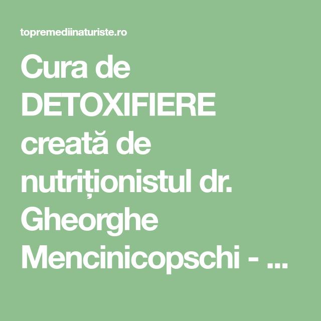 regim detoxifiere 3 zile)