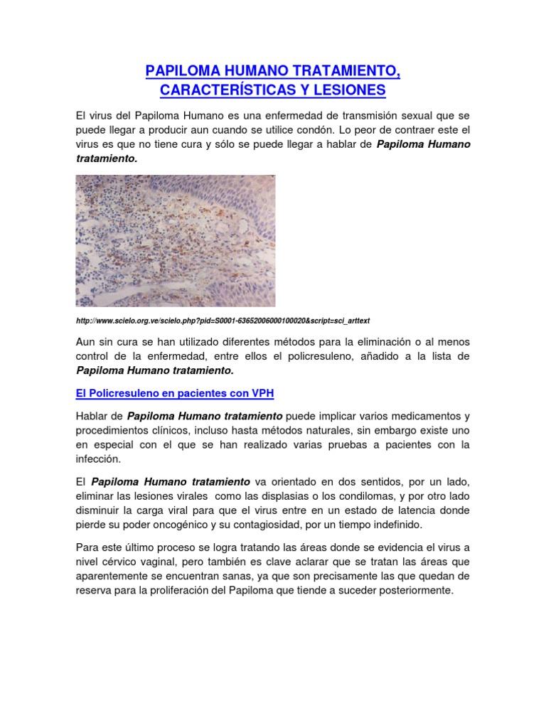 caracteristicas del virus del papiloma humano)