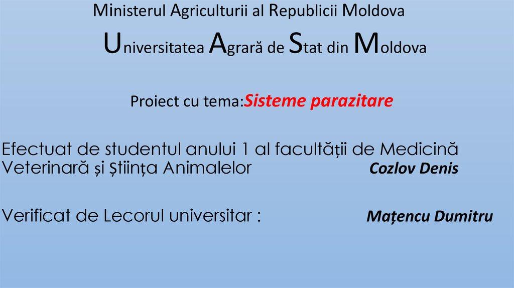 metodele parazitologice specifice)
