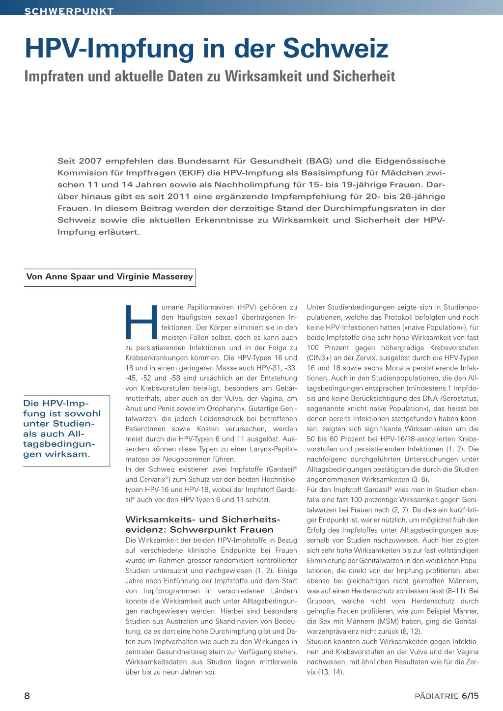 hpv impfung jungen schweiz)