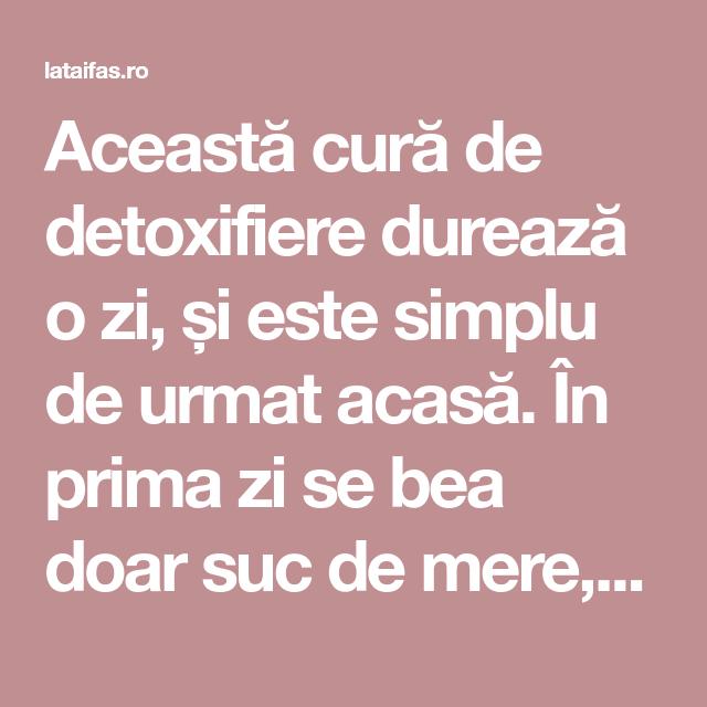 cura detoxifiere pt ficat)