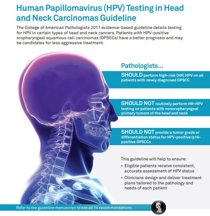 human papillomavirus testing in head and neck carcinomas)