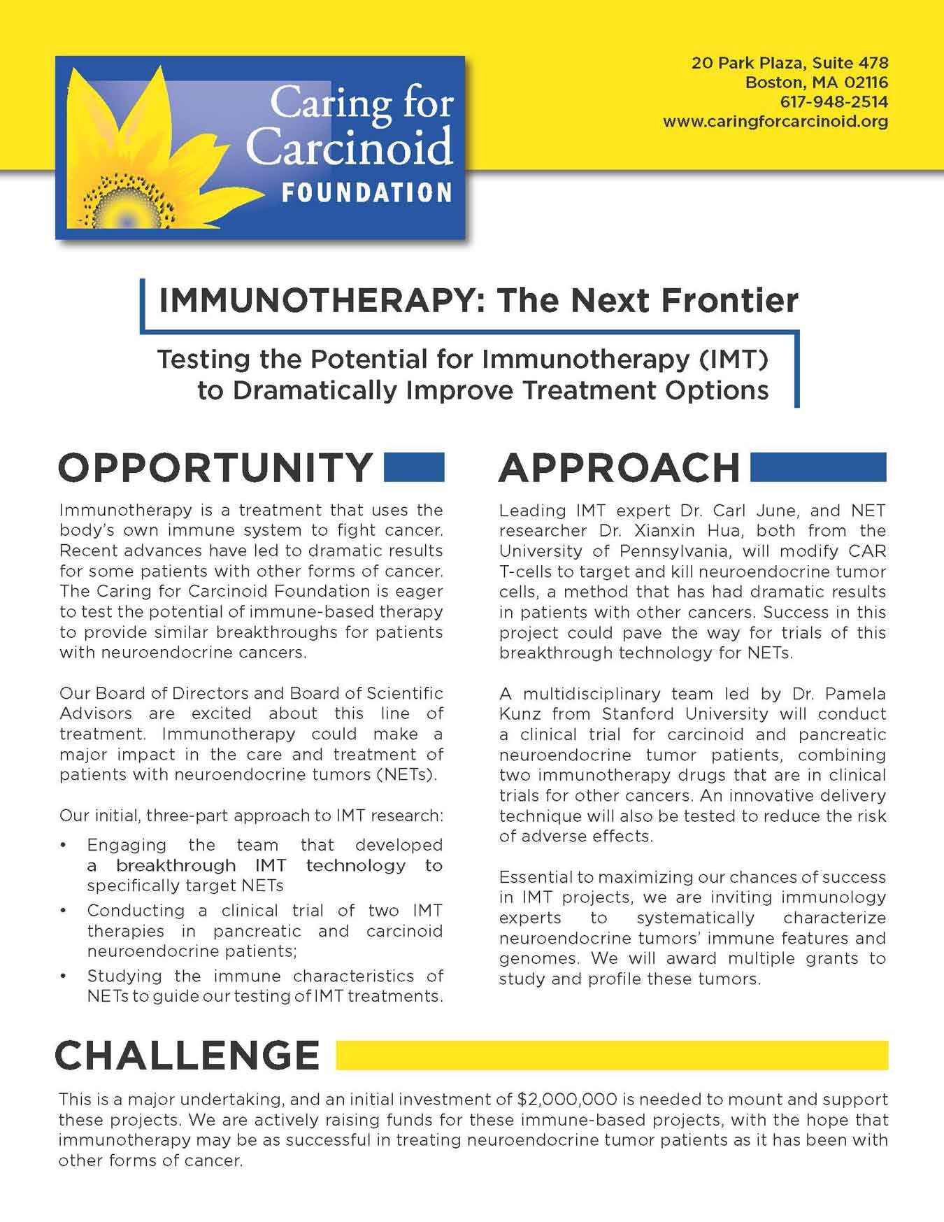 neuroendocrine cancer and immunotherapy