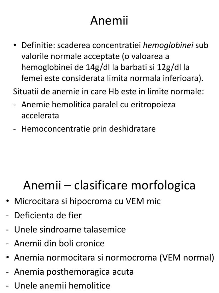 ce inseamna anemie normocroma normocitara)