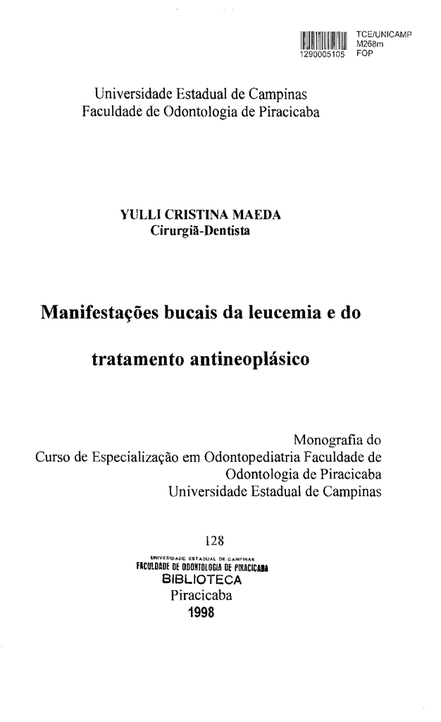 cancer bucal monografia)