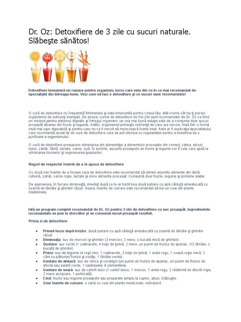 program detoxifiere cu sucuri