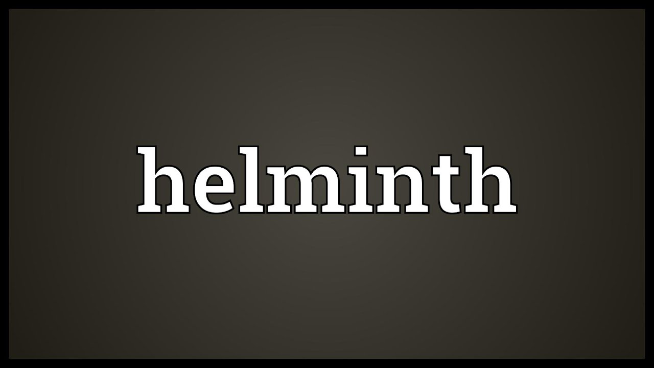 helminth meaning in hindi