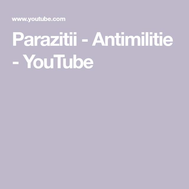 antimilitie parazitii)