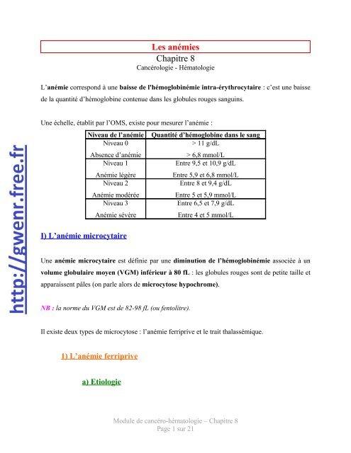 anemie 8 6