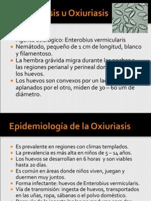 oxiuros tratamiento mebendazol