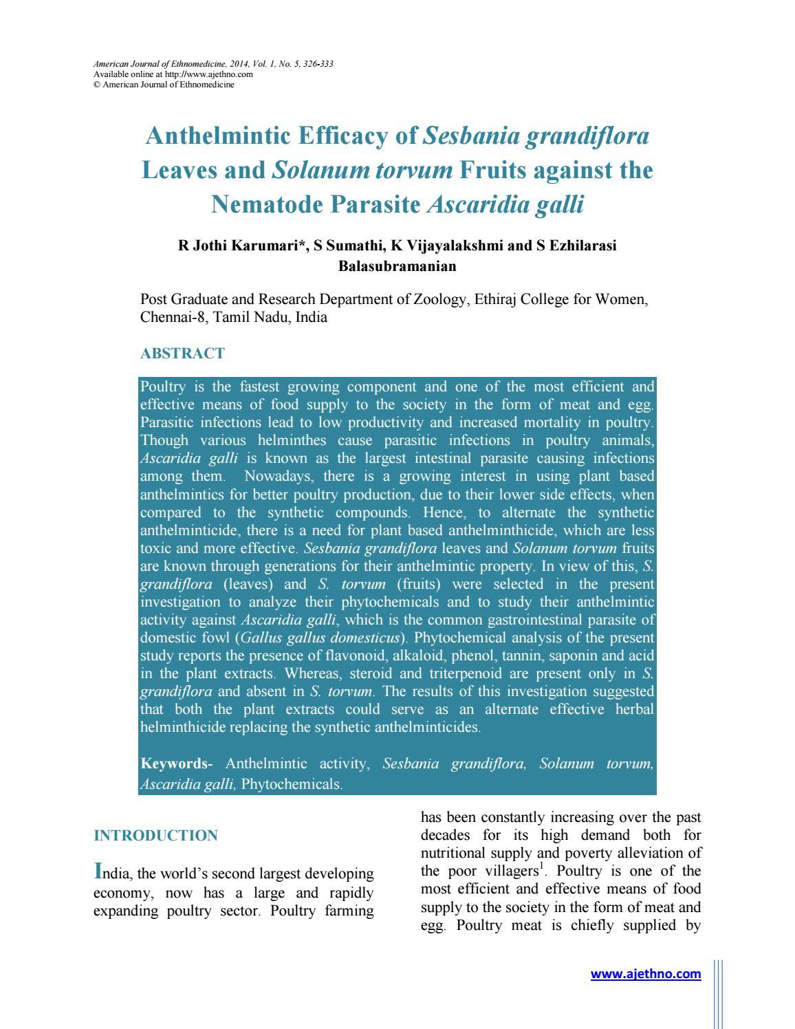 anthelmintic activity of butea monosperma)