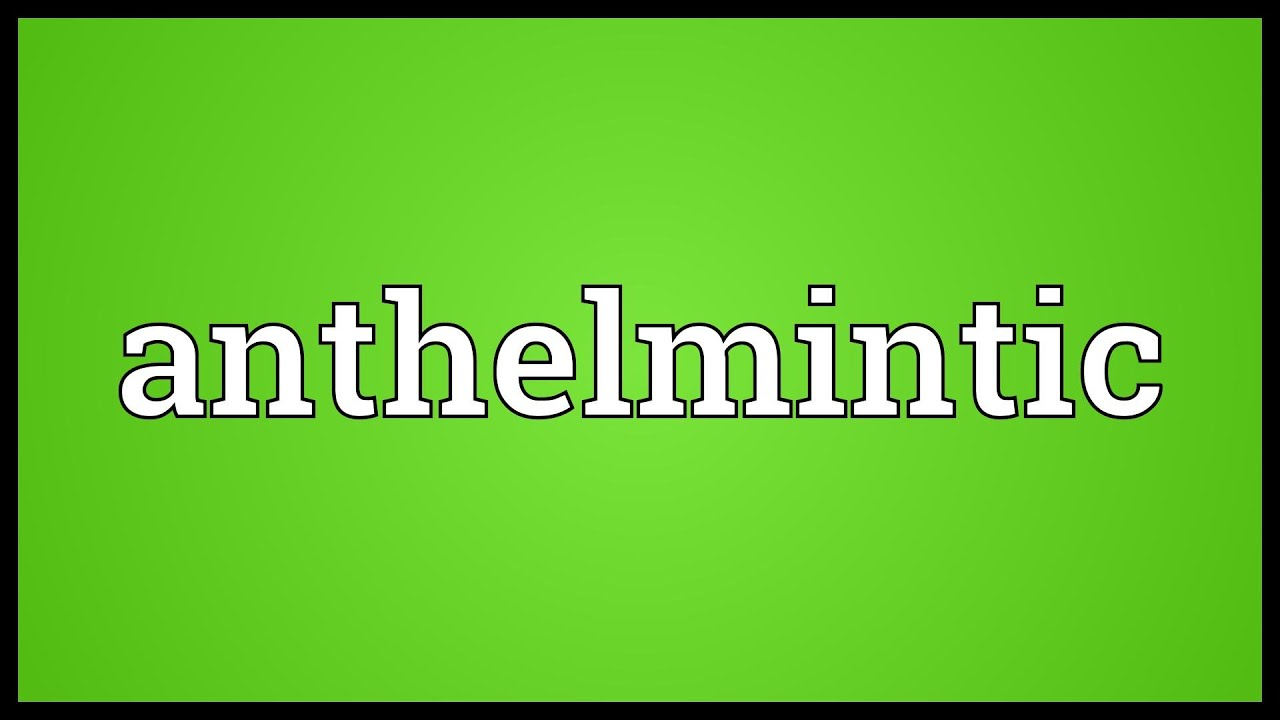 anthelmintic meaning