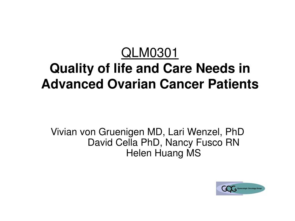 ovarian cancer quality of life)