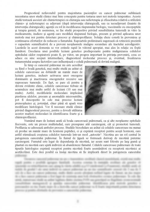 Adenocarcinom mucinos pulmonar primitiv la o femeie nefumătoare