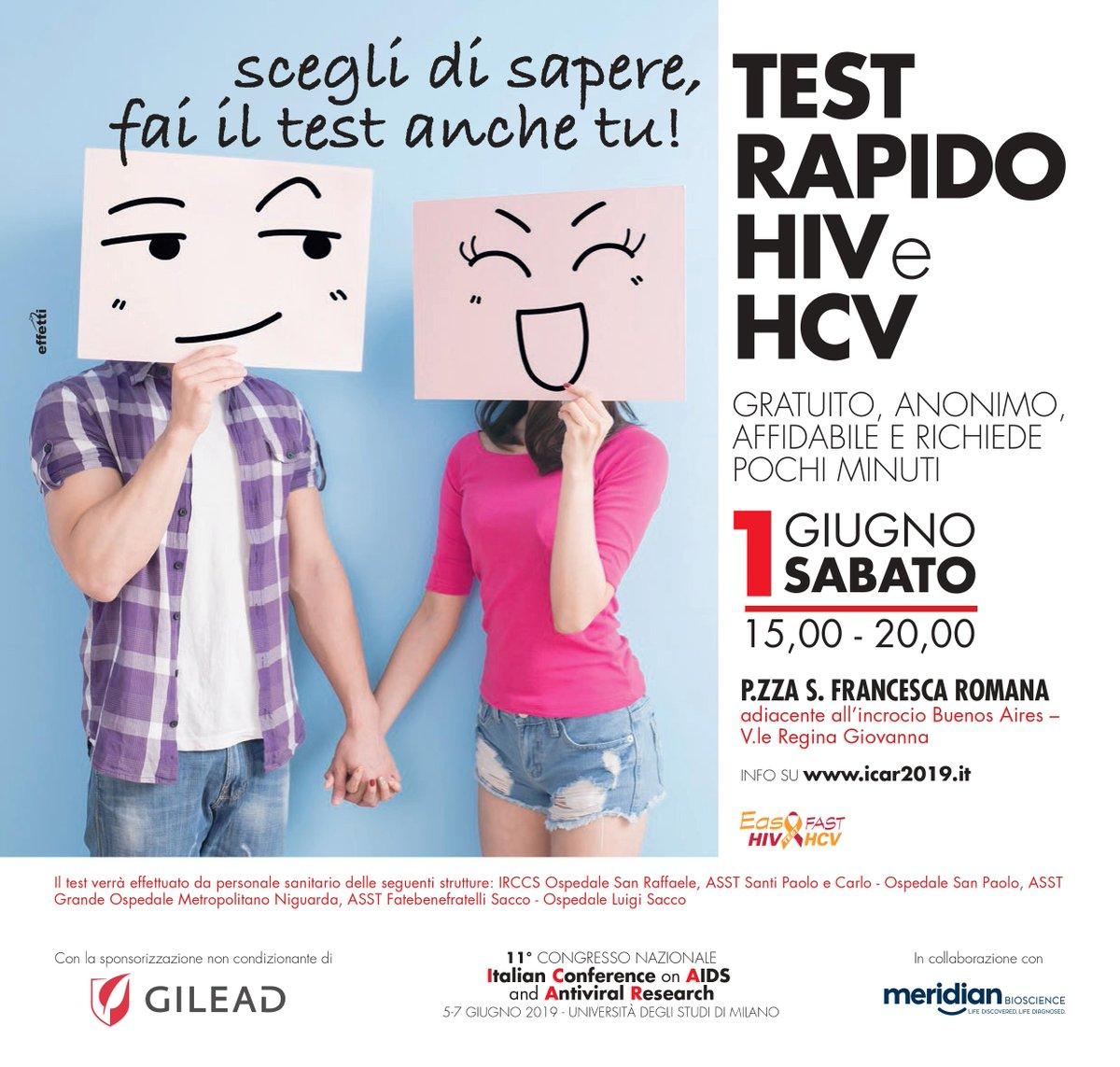test hiv anonimo milano