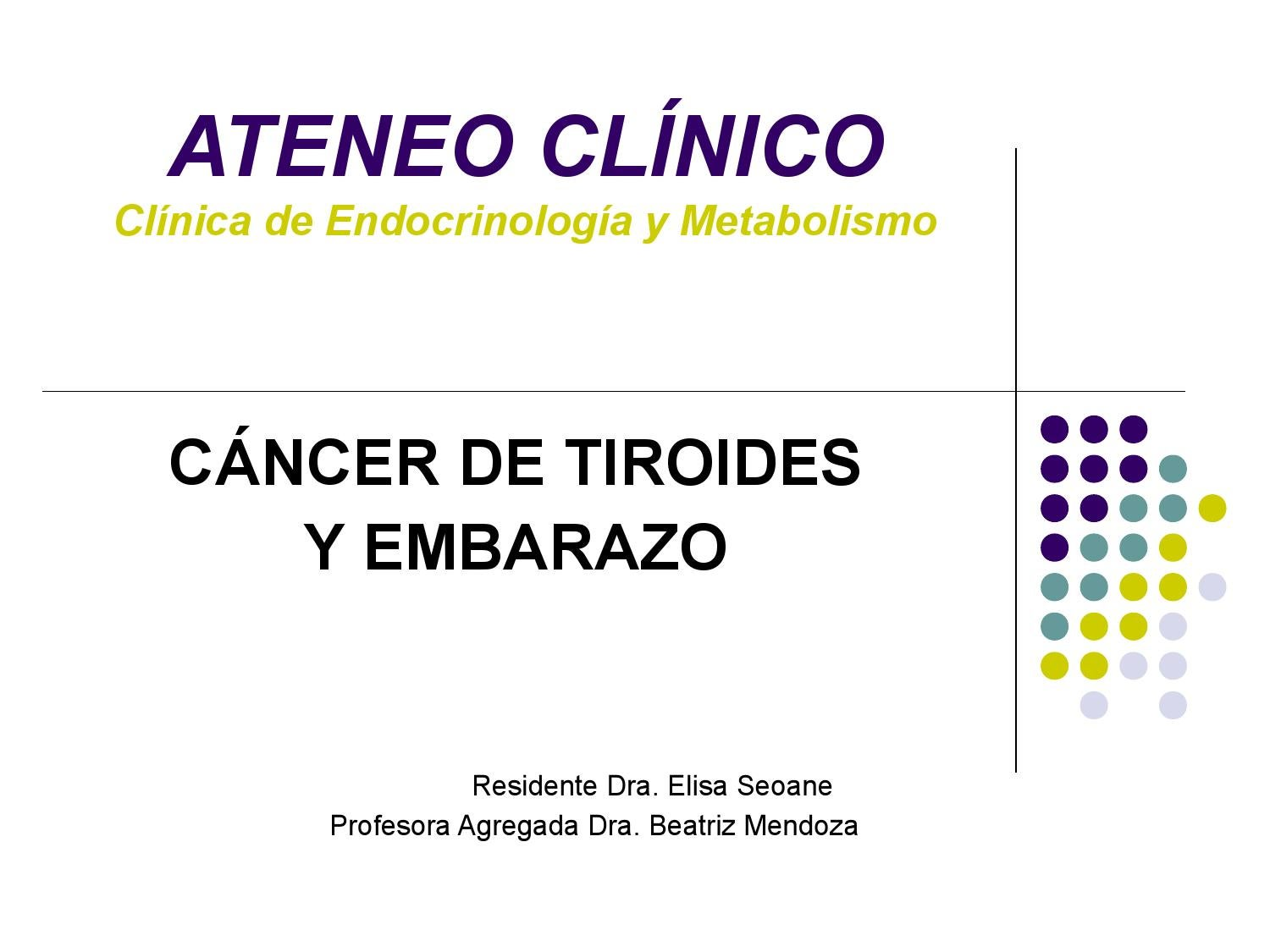 cancer tiroideo y embarazo