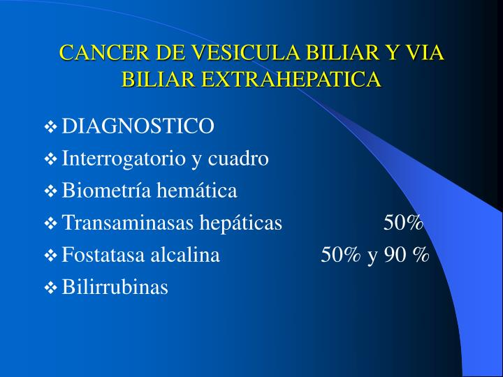 cancer vesicula biliar diagnostico
