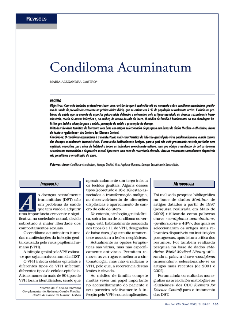 condylomata acuminata folder