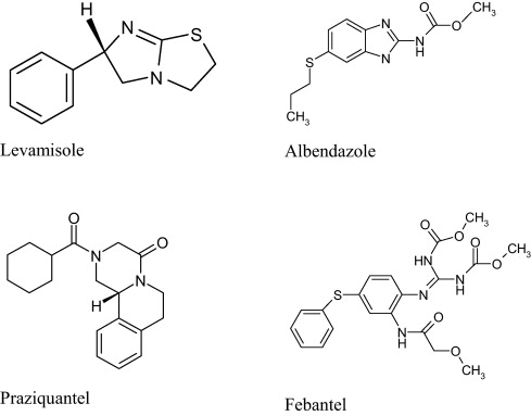 anthelmintic drugs structure)