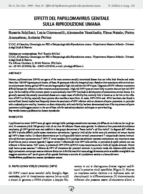 papillomavirus ricerca genoma
