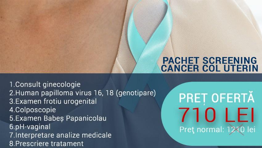 Teste screening cancer col uterin - testul Papanicolau si genotiparea HPV | Regina Maria