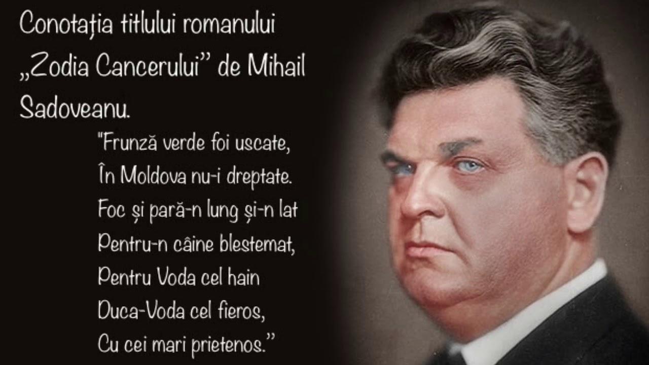 Teme ale romanului Zodia Cancerului sau Vremea Ducai-Voda de Mihail Sadoveanu referat