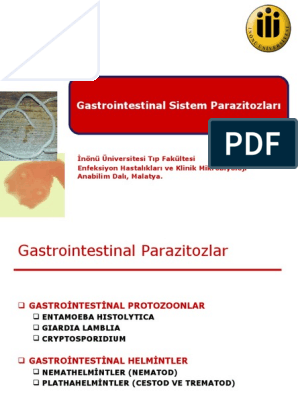 gastrointestinal parazit enfeksiyonlar?
