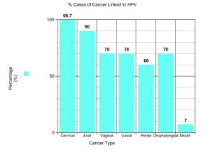 hpv and herpes increase the risk of which type of cancer