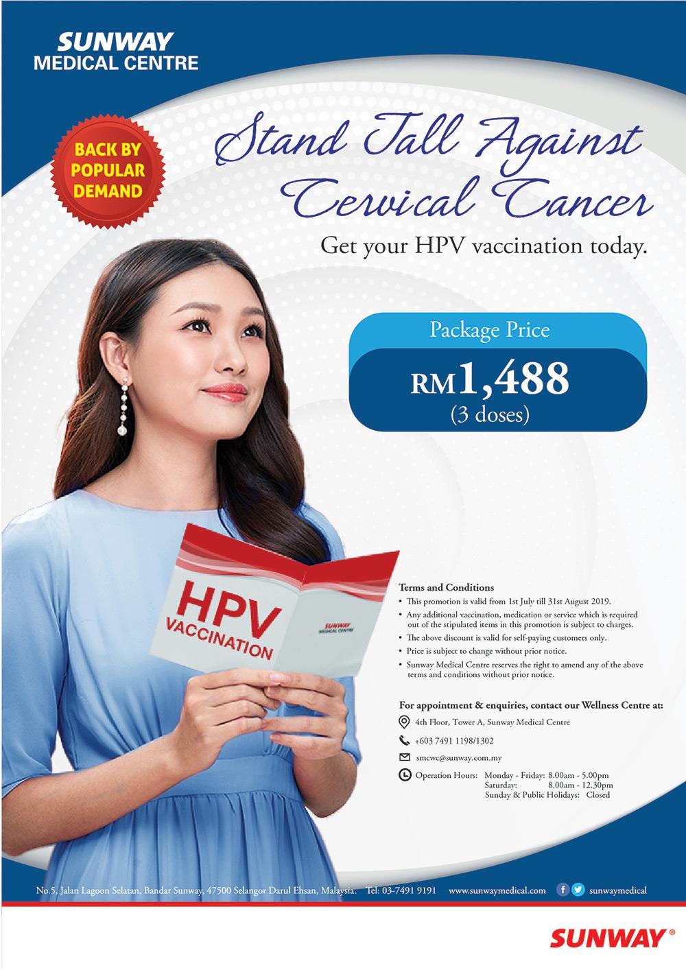 hpv vaccine pris 2019)