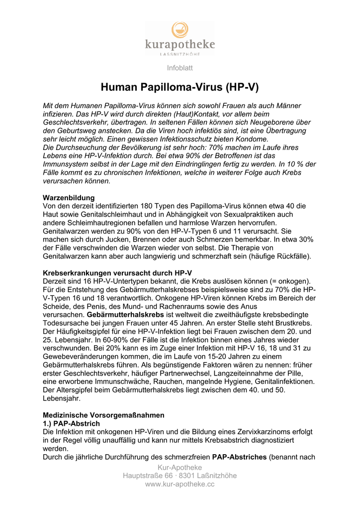 hpv virus krebsabstrich
