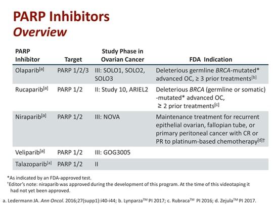 ovarian cancer parp inhibitors